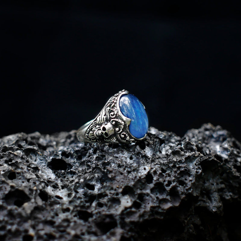 "Sterling Silver Kyanite Ring ""Elysium"" - blacktreelab"