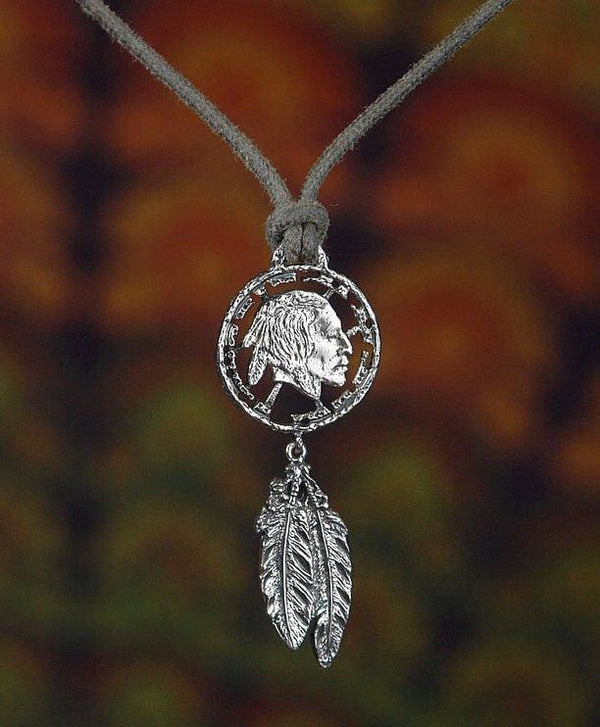 "Sterling Silver Pendant ""Warrior Spirit"" - blacktreelab"
