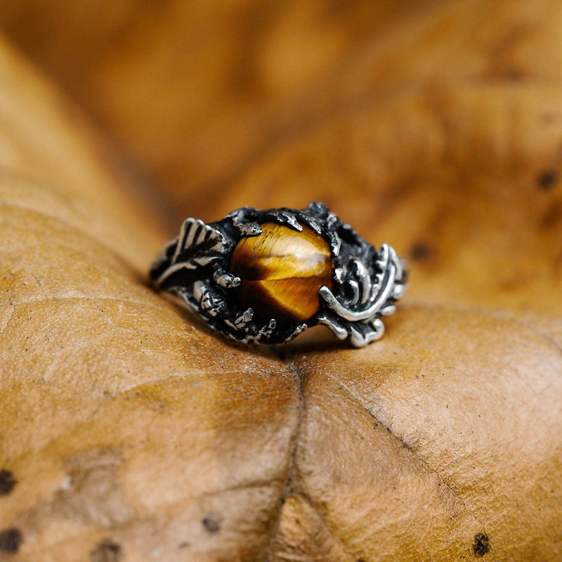 "Sterling Silver Tiger's Eye Ring ""Tori"" - blacktreelab"
