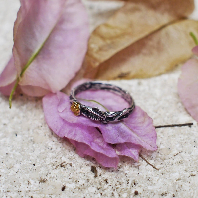 "Sterling Silver Twig Band ""Angel"" - blacktreelab"
