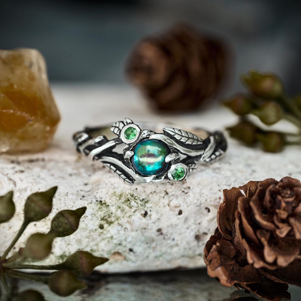 Green Pearl ring