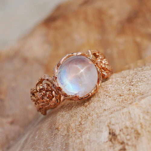 14K Gold Engagement ring with Moonstone