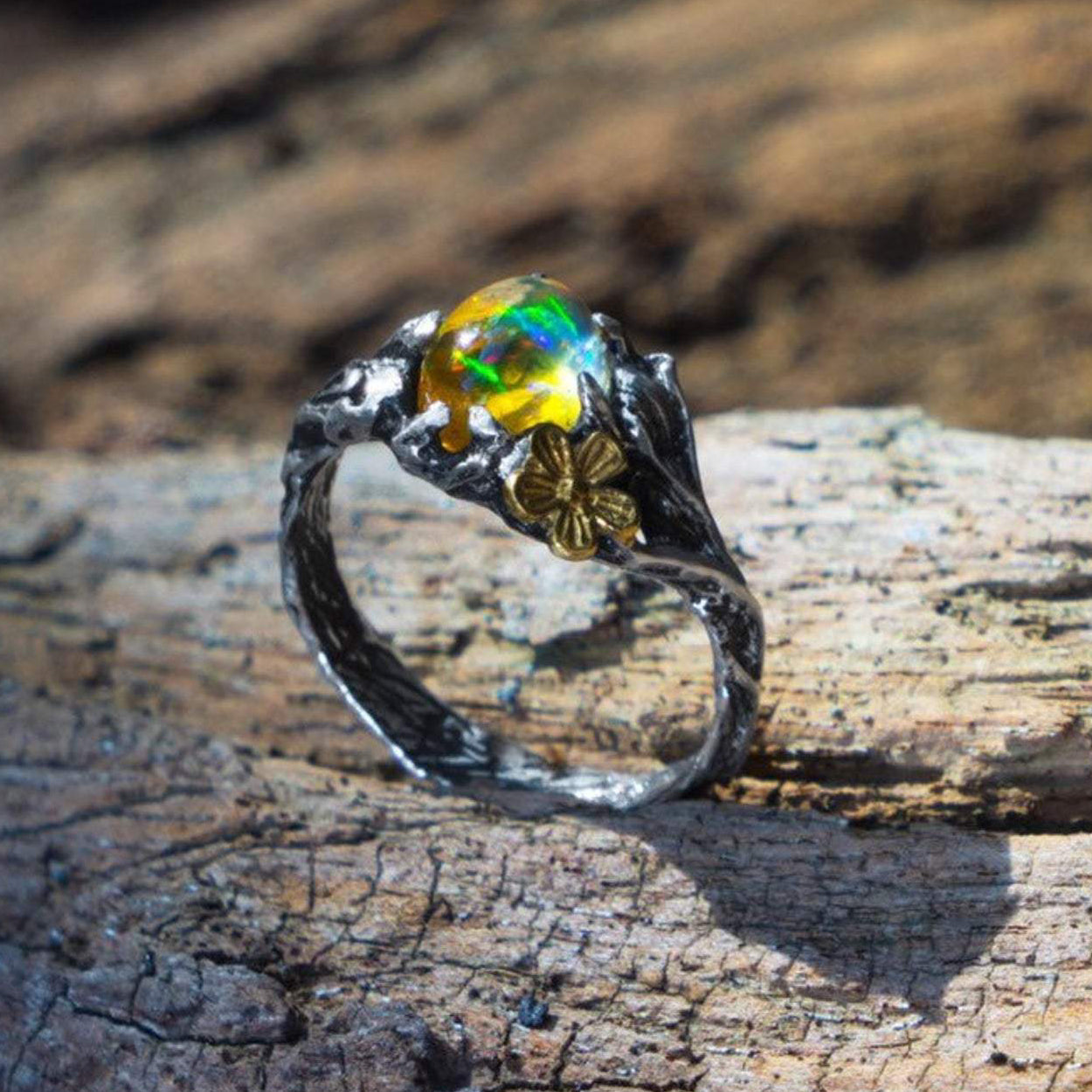 Ethiopian Fire Opal ring