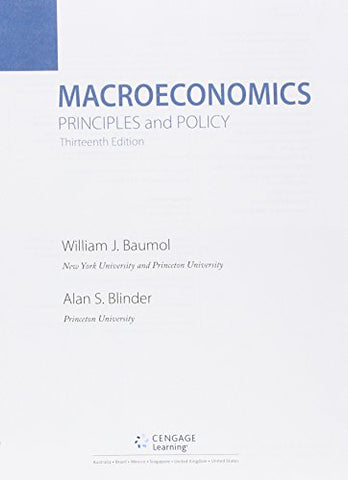 Bundle: Macroeconomics: Principles And Policy, 13Th + Aplia, 1 Term Printed Access Card