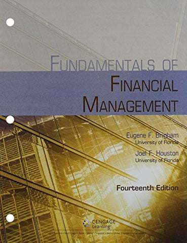 Bundle: Fundamentals Of Financial Management, Loose-Leaf Version, 14Th +  Lms Integrated For Mindtap Management, 2 Terms (12 Months) Printed Access Card
