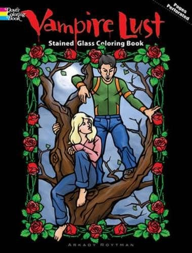 Vampire Nights Stained Glass Coloring Book (Dover Stained Glass Coloring Book)
