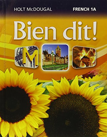Bien Dit!: Student Edition Level 1A 2013 (French Edition)