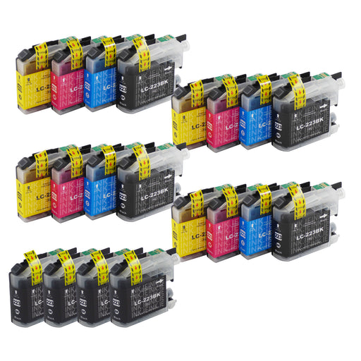 Compatible Brother LC223XL - BIG BUNDLE DEAL - (4 Black & 4 Multipacks) - Pack of 20 Cartridges