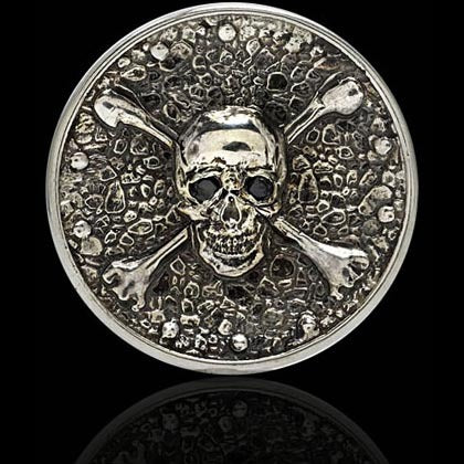 Black Diamond Skull and Crossbones Ball Marker - Shano Designs