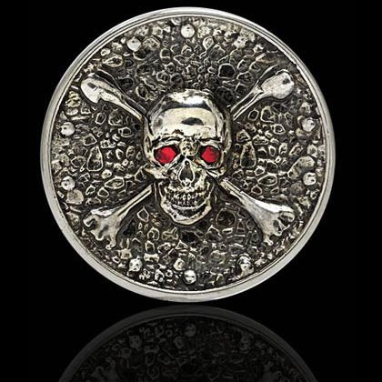 Ruby Skull and Crossbones Ball Marker - Shano Designs