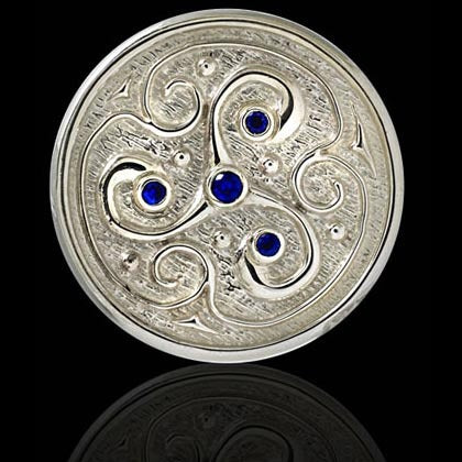 Blue Sapphire Celtic Triple Ball Marker - Shano Designs