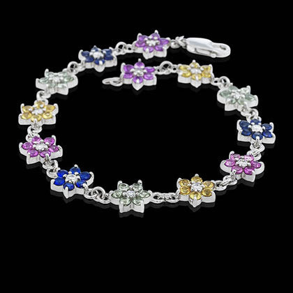 Multicolor Flower Bracelet - Shano Designs