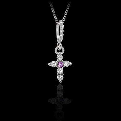 Diamond Cross Pendant - Shano Designs