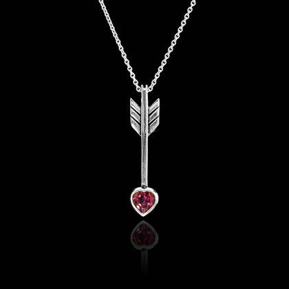 Arrow and Heart Pendant Necklace - Shano Designs