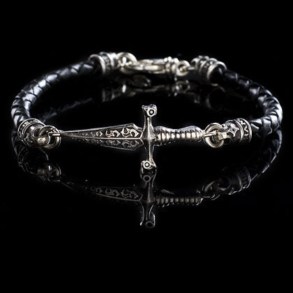 Greek Leather Dagger Bracelet - Shano Designs