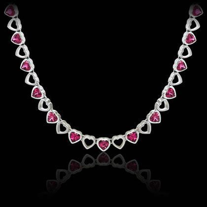 Pink Heart Necklace - Shano Designs
