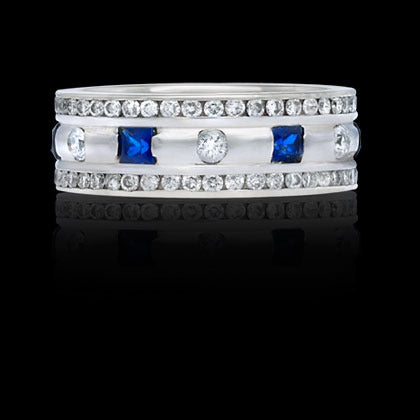 Right-Hand Ring—Blue Sapphire - Shano Designs