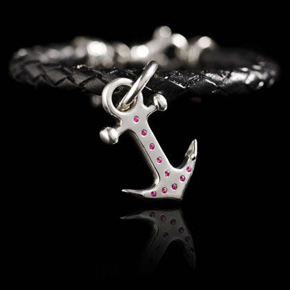 Pink Sapphire Anchor Bracelet - Shano Designs