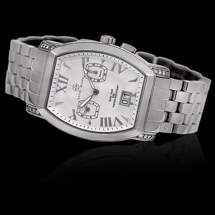 Dual Time White Face, White Diamond - Shano Designs