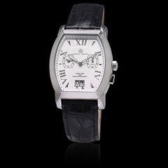 Dual Time White Face, Black Crocodile