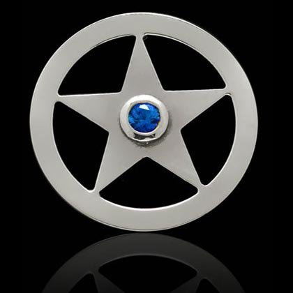 Sheriff's Star Ball Marker - Shano Designs