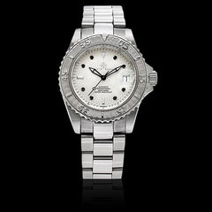 Marine White, Black Diamond Dial