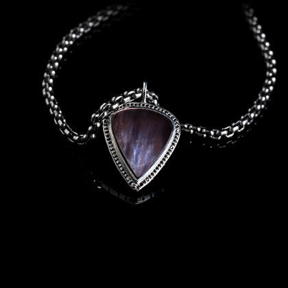 Black Diamond Guitar Pick Pendant - Shano Designs