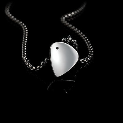 Black Solitare Guitar Pick Pendant - Shano Designs