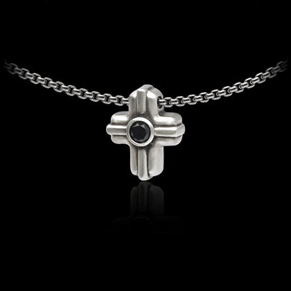 Black Diamond Cross Pendant - Shano Designs