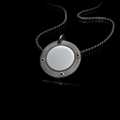 Black Diamond Poker Chip Pendant - Shano Designs