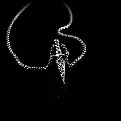 Black Diamond Dagger Pendant