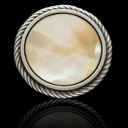 Rope Edge Mother-of-Pearl Ball Marker - Shano Designs