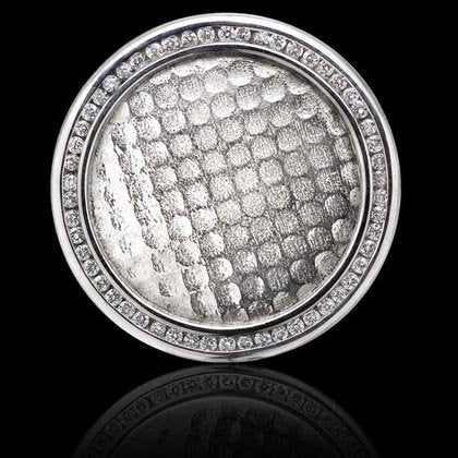 Platinum and Diamond Ball Marker - Shano Designs