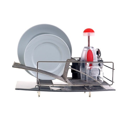 "Zojila.com : Rohan Dish draining rack 18"" drainboard 18"" deep x 13.5"" wide x 7.5"" high Stainless steel : Kitchen products"