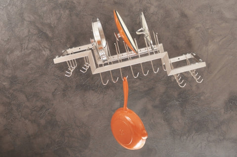 Zojila.com : Ladakh Pot & Lid Holder Rack: Wall mounted 30 hooks pot rack Kitchen & Organization : Storage & Organization