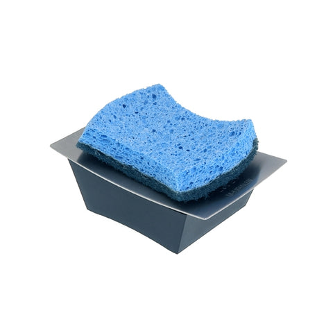 Zojila.com: Sonora Sponge and Soap Solution Holder : Soap solution and sponge holder with separate compartments, Stainless steel Matte Black: Bath & Kitchen