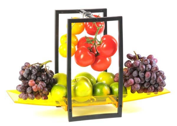 Zojila.com: Andalusia Fruit Holder, Elegant Fruit Basket Detachable Acrylic Tray and Sturdy Hanging Hooks : Kitchen & Dining
