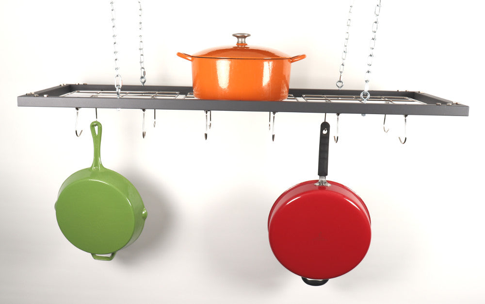 Zojila.com: Putumayo Pot Holder : Ceiling wall mount 3-way mountable kitchen pot holder dish rack, Steel : Kitchen & Storage