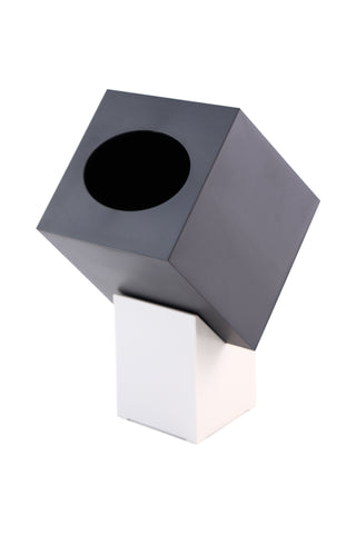 Zojila.com: Zaforas Tissue Holder : Stylish & Functional Angled Tissue Holder with Pedestal, Black & Ivory: Dining & Kitchen