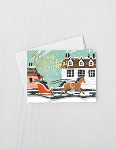 Sleigh Ride Card - Box of 8