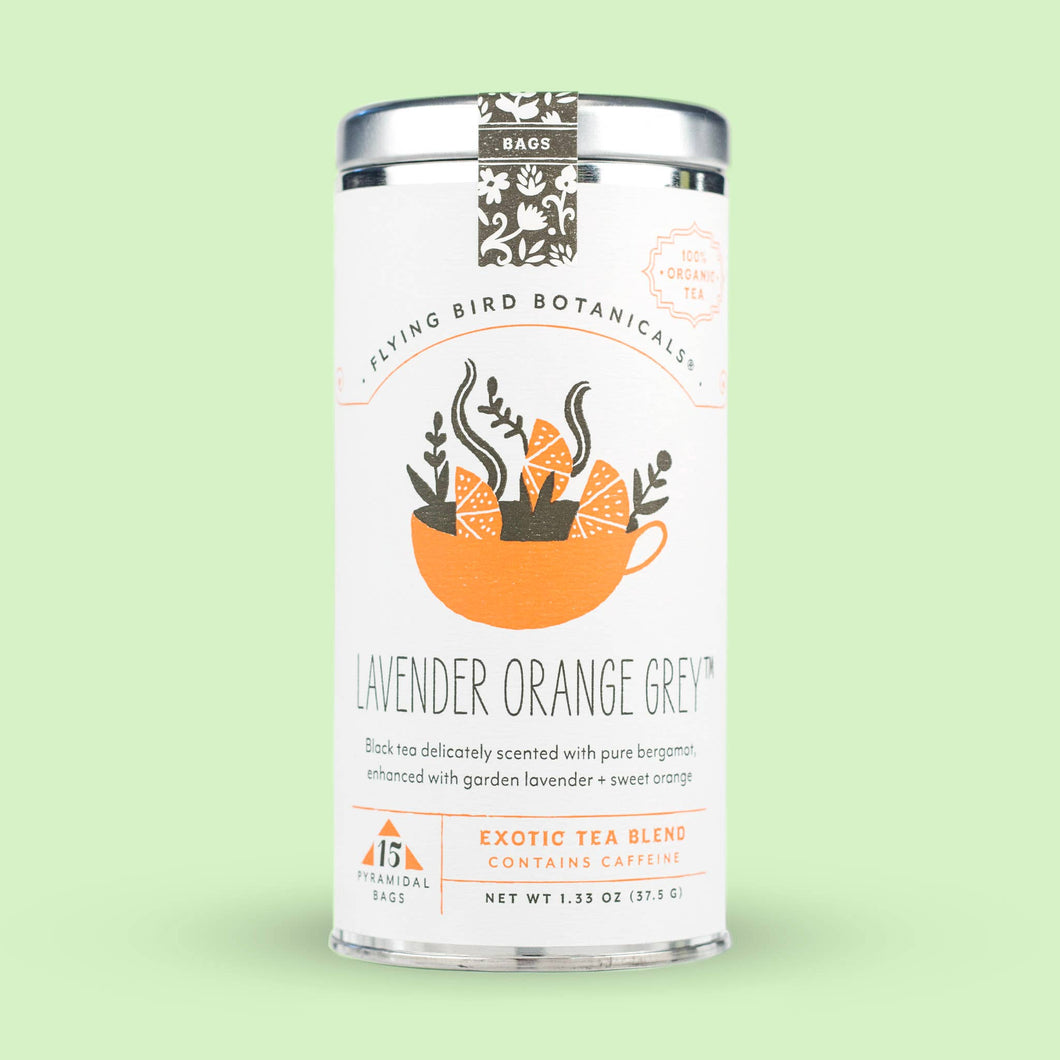 Lavender Orange Grey – 15 Tea Bag Tin