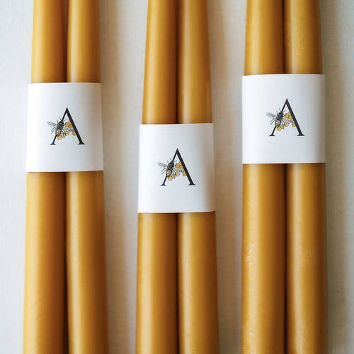 100% PURE BEESWAX TAPERS