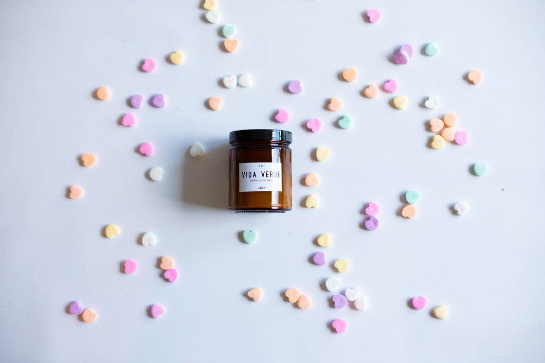 Amor: Soy Candle with Essential Oils