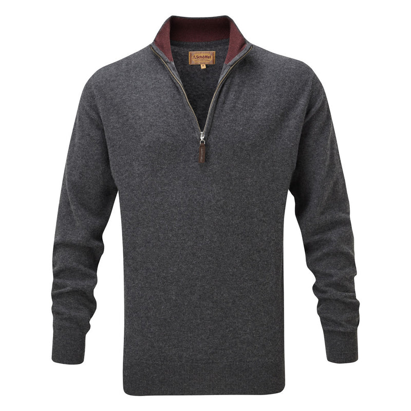 Merino 1/4 Zip Jumper Charcoal