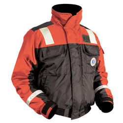 Mustang Classic Bomber Jacket w/SOLAS Tape - Large - Orange/Black [MJ6214T1-L-OR/BK]