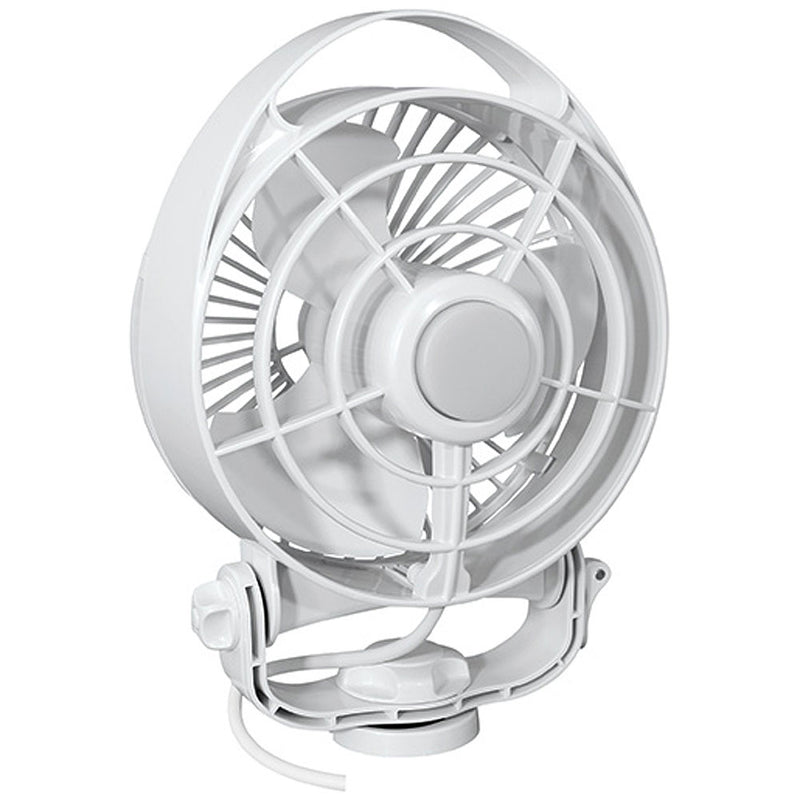 "Caframo Maestro 12V 3-Speed 6"" Marine Fan w/LED Light - White [7482CAWBX]"