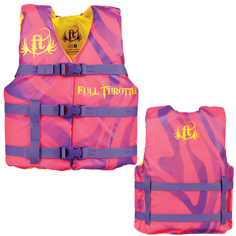 Full Throttle Character Life Vest - Youth 50-90lbs - Pink [104200-105-002-15]