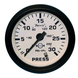 "Faria Euro White 2"" Water Pressure Gauge Kit - 30 PSI [12903]"
