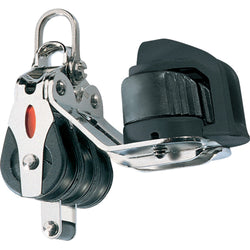 Ronstan Series 20 Ball Bearing Block - Triple - Becket - Cam Cleat - 2-Axis Shackle Head [RF20332]