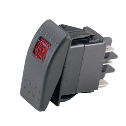 Marinco Sealed Rocker Switch w/Light - DPDT On-Off-On [554036]